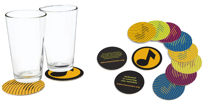 Music is Art Coasters